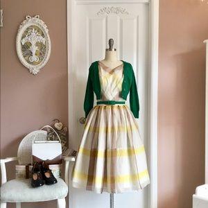 Vintage 50s handmade organza angel food cake dress